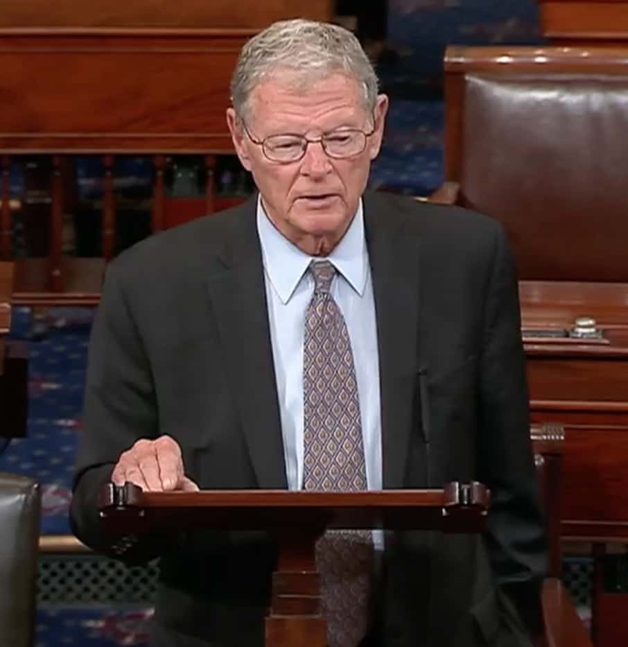 Inhofe Deserves No Congratulations